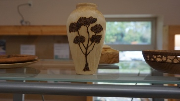 Wooden Vase with tree